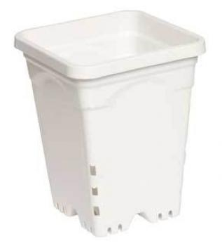 "7"" x 7"" Square White Pot, 9"" Tall, case of 50"