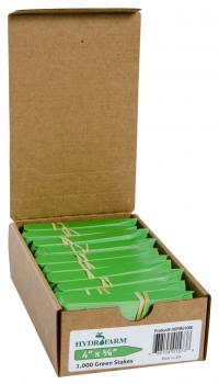 "Macore Co.     Plant Stake Labels Green, 4"" x 5/8"", Case of 1000"