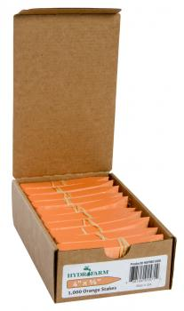 "Macore Co. Plant Stake Labels Orange, 4"" x 5/8"", Case of 1000"