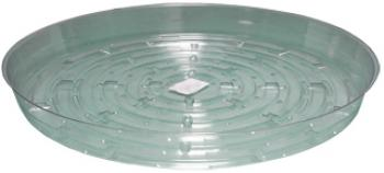 "Clear Saucer 12"", pack of 10"