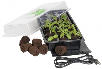 Jump Start 24 Grow Plug Greenhouse w/Heat Mat