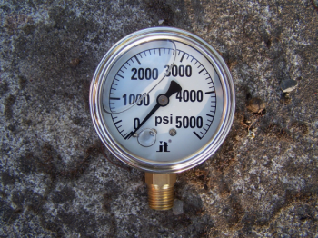 ZEN-TEK INSTRUMENTS 0-5000 PSI LIquid Pressure Gauge 0-5000 PSI LIquid Pressure Gauge