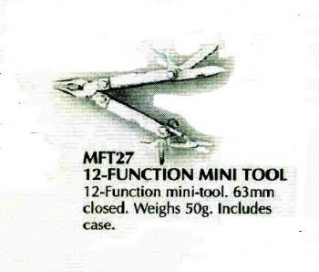 12-Function Mini Multi Tool w/ Case