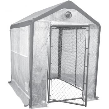 Saturday Solution     8' x 6' Secure Grow Chain Link Greenhouse (Special Order)