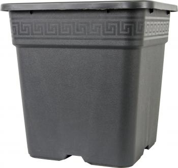 Vega Black Square Pot 8 gal