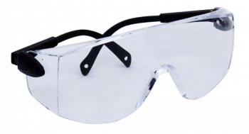 ZEN TEK Clear or Amber Safety Glasses w/horizontal adjustable temples. W/UV coating
