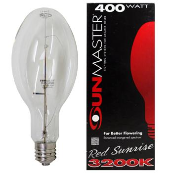 400w Red Sunset HOR Metal Halide Lamp
