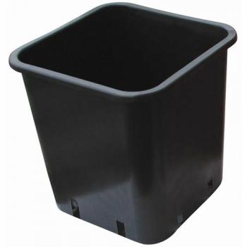 1.5 Gallon Black Square Pot