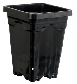 "7"" x 7"" Square Black Pot, 9"" Tall - Case of 50"