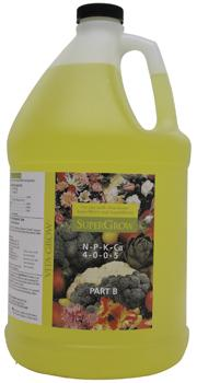 Super Grow Liquid 4-0-0-5. 1 Gallon