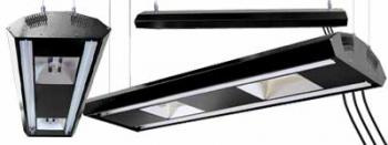 MARISTAR HIGH OUTPUT T-5 FLUORESCENT/HQI COMBO LIGHTING FIXTURE