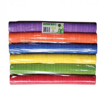 "2"" Colorful Neoprene Inserts (Packs of 192)"
