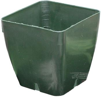 Plastic Pot - Green. 4.125 in