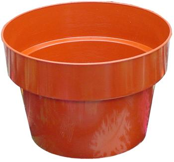 Plastic Pot - Terra Cotta. 6.5 in