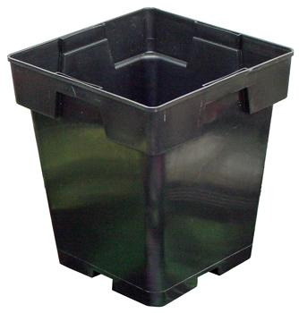 Plastic Pot - Black. 5 in