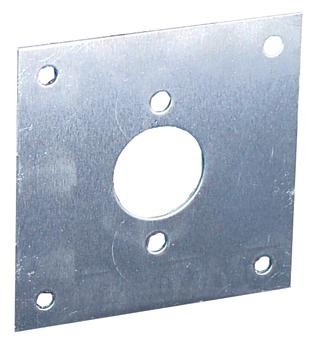 Square Mounting Bracket for Socket Assemblies.