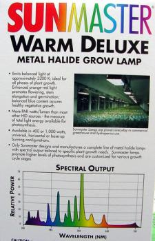 1100w 3K Warm Deluxe Metal Halide Lamp (Universal Burn).