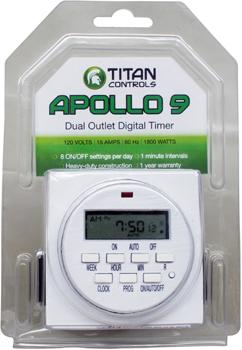 The Apollo 9 - digital dual outlet timer