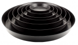 Gro Pro Black Saucer 8in (100/Cs)