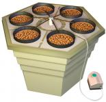 "GHBB® ECOGROWER®         17 GALLON RESERVOIR DRIP HYDROPONIC GROWING SYSTEM - 22.5"" X 22.5"" X 15.5"""