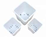 724594 Gro Pro Premium White Square Pot 9in x 9in 10.5in (100/Cs)