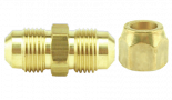 728164 Short Forged Flare Nut, Brass 5/8in