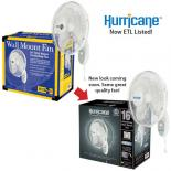 Hurricane (EcoPlus) Wall Mount Fan 16 in - Now ETL Listed