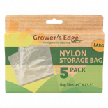 Growers Edge Nylon Storage Bag - 1mil 19in x 23.5in - 5 Pack