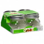748155 Ball Jars Collection Elite WM Half Pint 16oz 4-Jars (Case of 16)