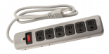 780055 Power All Indoor Metal Surge Strip 6 Outlet 125 Volt 4ft Cord 14 Gauge 15 Amp