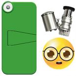 dl-999055H iPhone 5 Case + LED Binocular Microscope 60x (Special Edition) -