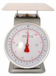 "ACCUZEN SCALE WITH POUNDS & KILOGRAMS ON DIAL 10 lb /4.52 Kg - 9"" x 9"" stainless"