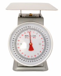 "ACCUZEN SCALE WITH POUNDS & KILOGRAMS ON DIAL 50 lb / 22 Kg - 9"" x 9"" stainless"