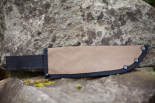 "Canvas Knife Sheath holds blade  6"" long x 2"" wide"