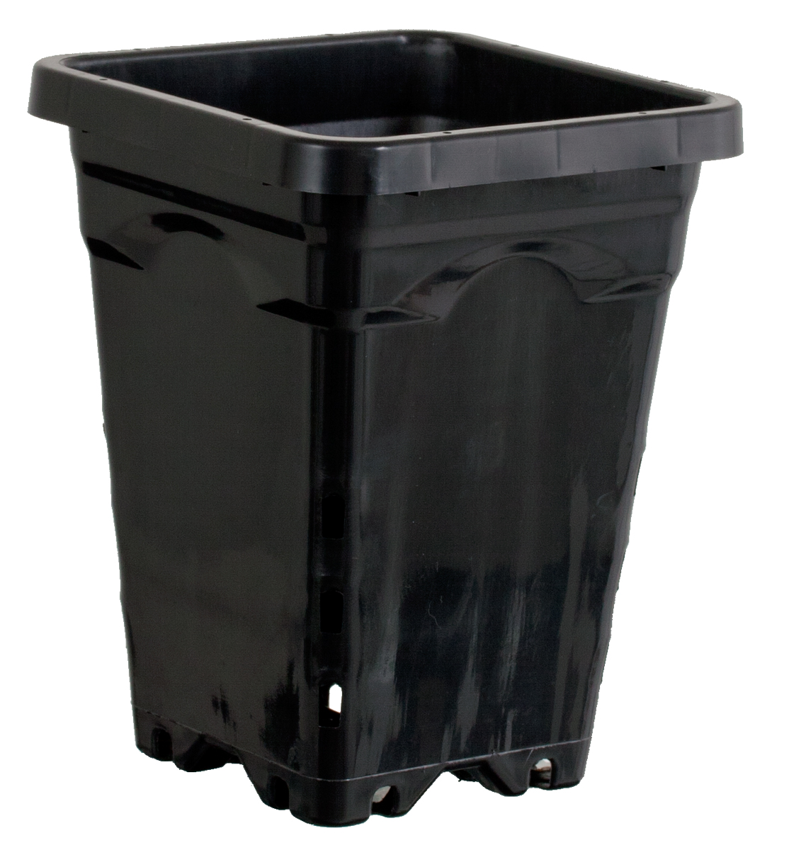 "12"" x 12"" Square Black Pot, 12"" Tall - Case of 24"