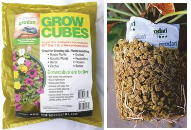 "GRODAN� STONEWOOL GROWCUBES - 1/2"" CUBES OF STONEWOOL BULK - LOOSE IN BOX (22 LBS/CASE)"