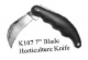 "7"" STAINLESS STEEL PRUNING/HORTICULTURE KNIFE - K107   PACKED -"