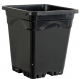 "12"" x 12"" Square Black Pot, 12"" Tall, case of 24"