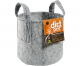 Dirt Pot Flexible Portable Planter, Grey, 100 gal, with handles