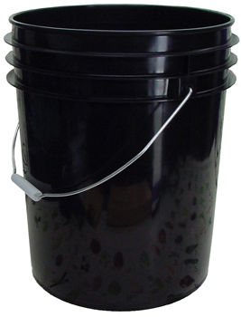 Black Lid for 5 Gallon Bucket.