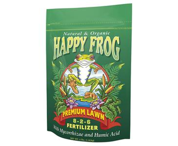 FOX FARM HAPPY FROG� PREMIUM LAWN 8-2-6 - 4 LB BAG (8/CASE)