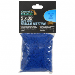 740238 Grower's Edge Soft Mesh Trellis Netting 5 ft x 30 ft w/ 6 in Squares - Blue (12/Cs)