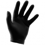 744416 Grower's Edge Black Nitrile Gloves 6 mil - XX-Large (100/Box)