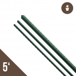 5' Steel Stake Plant Support - Green 20 Pack