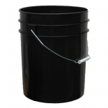 5 Gallon Black Bucket w/ handle