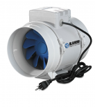 Blauberg Inline Mixed Flow Fan 6""