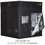 "5' x 5' Gorilla Grow Tent SHORTY w/ 9"" Extension Kit"