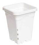 "5"" x 5"" Square White Pot, 7"" Tall, case of 100"