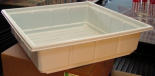 Medium Opaque Plastic Tray. 22 in x 22 in x 6 in (approx)