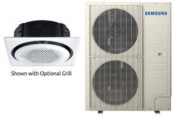 Samsung 360 Ceiling Cassette Indoor/Outdoor Unit 48,000 BTU 208 / 230 Volt 1 Phase (2 Boxes)